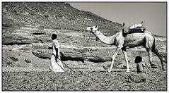 unterwegs - irgendwo in den ägyptischen Wüstengebieten