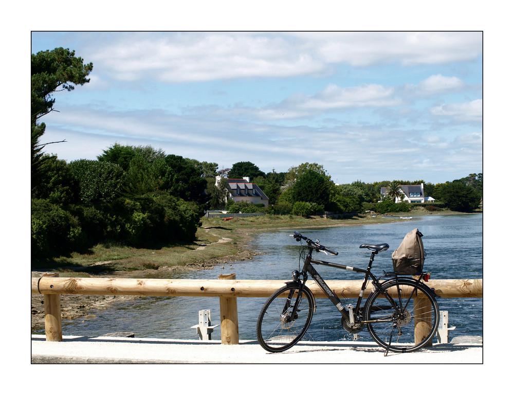 Unterwegs mit  Fahrrad..