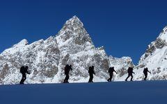 Unterwegs mit Skiern auf Hochtour