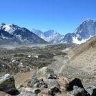 Unterwegs von Gorak Shep nach Lobuche auf 5100 m Höhe