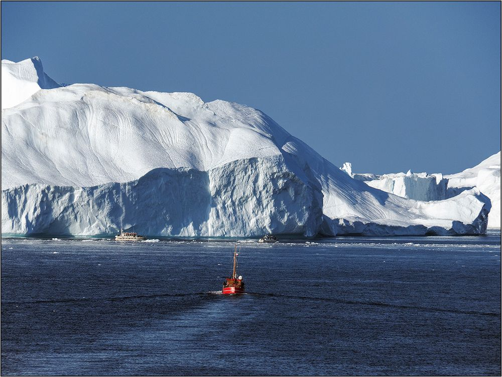 Unterwegs zu den Eisbergen