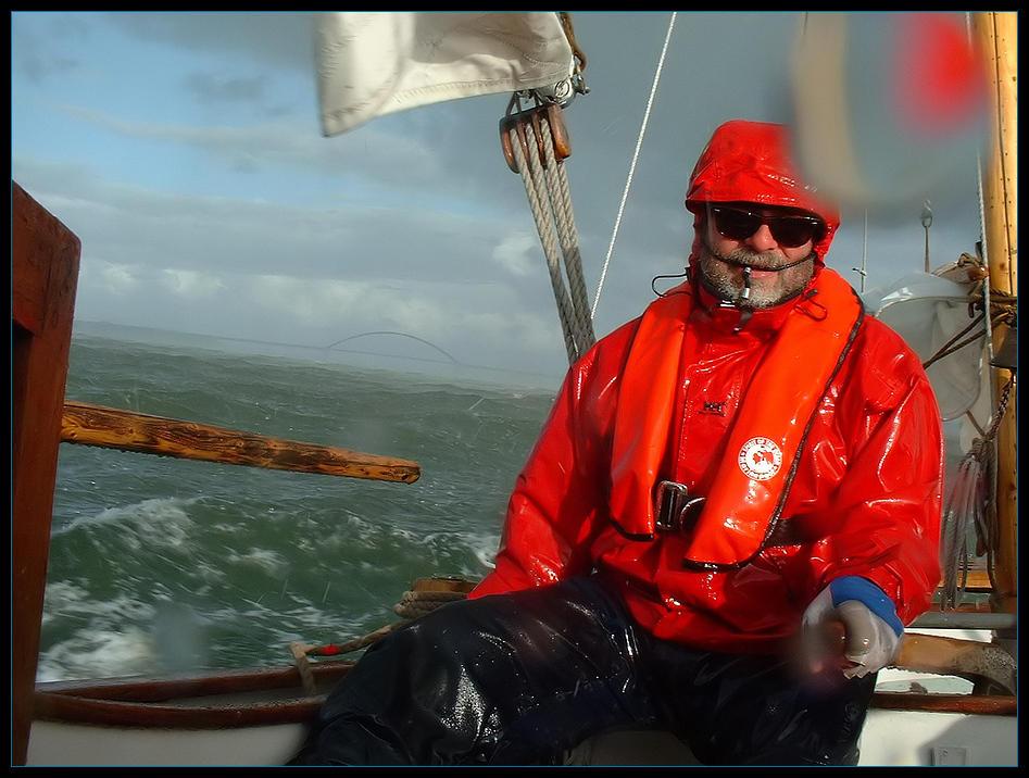 Unwetter mit Hagelschlag auf See.....