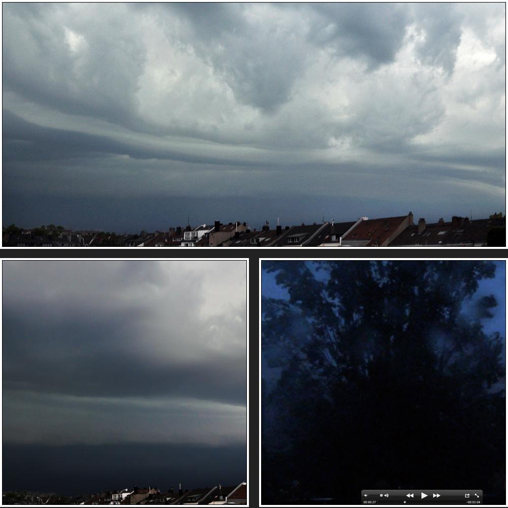 Unwetter über Düsseldorf