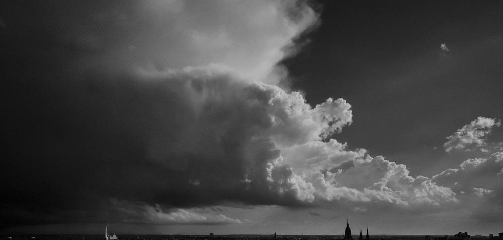 Unwetter über München