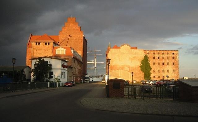 Unwetter über Stralsund