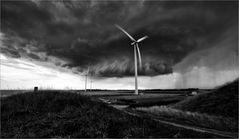 Unwetter über Zeeland