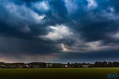Unwetterwolken über Leichlingen