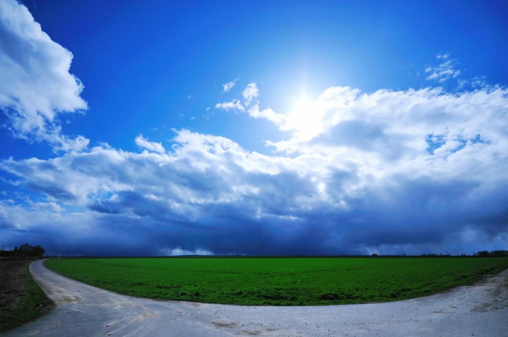 Unwirkliches Licht - vor dem Gewitter