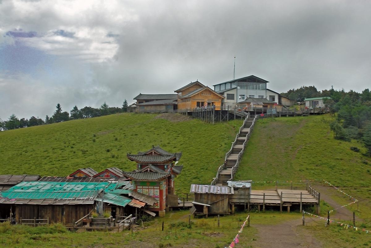 Upper station at Yulong Jade Snow Mountain