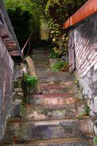 Uralte Treppe.