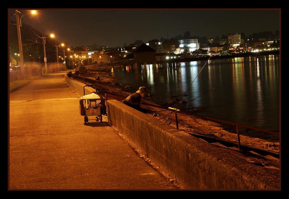 Urbanes Nachtangeln