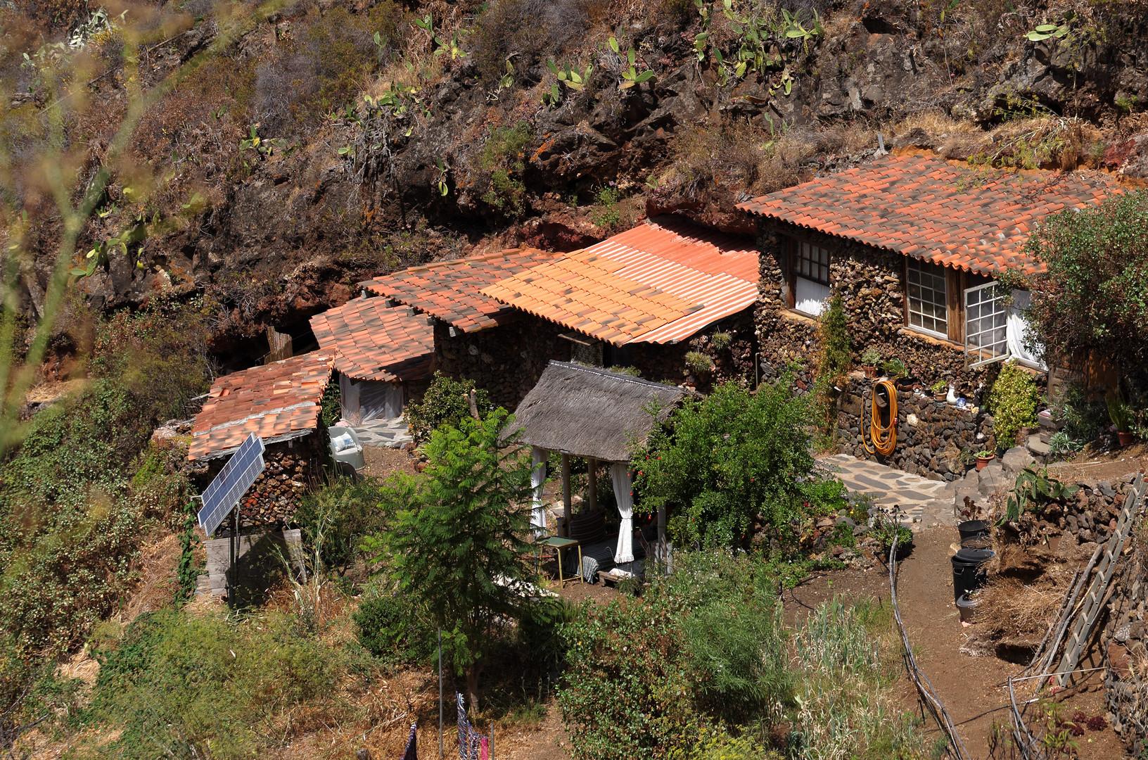 Urige Hütten bei Las Tricias, La Palma, September 2013