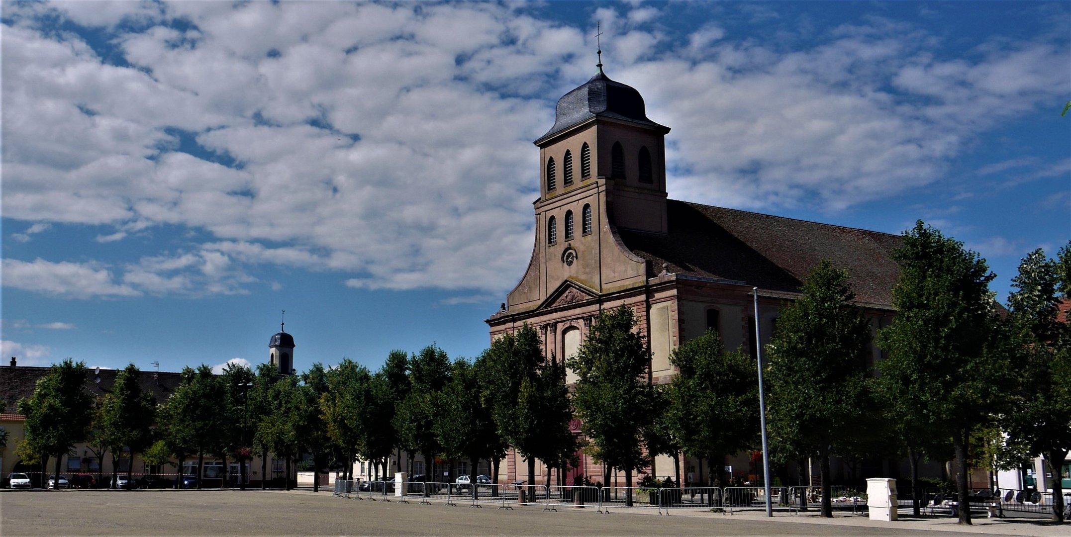 Urlaub 2017 - Neuf Brisach mit St.Louis und Eglise Protestante