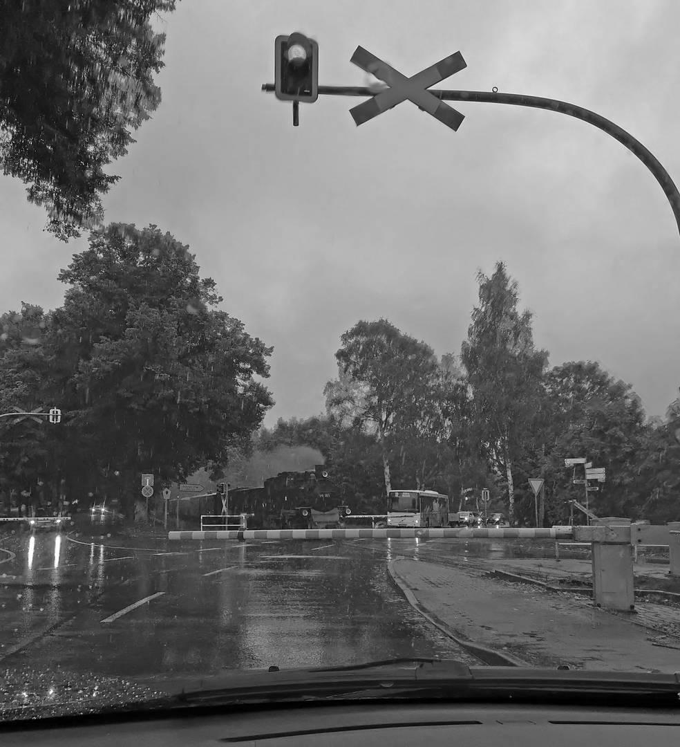 Urlaub und Regen