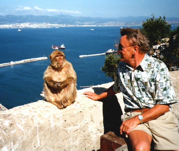 Urlaubserinnerungen 23 ..... auf dem Affenfelsen von Gibraltar ...  siehe auch unten !