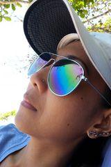 Urlaubssonnenbrilleamstrandhändiknipsbild
