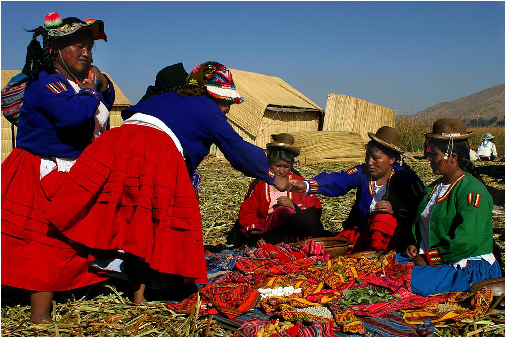 uros at titicaca lake