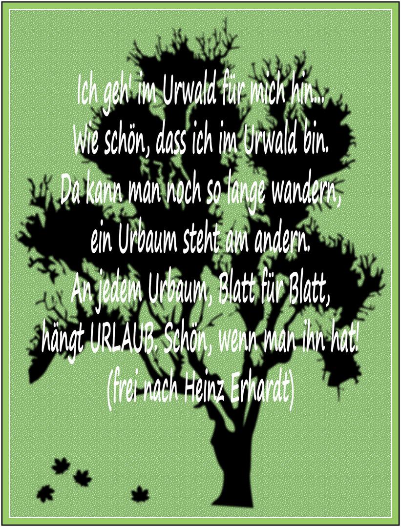 Erhardt urlaub heinz gedicht Lustige Gedichte