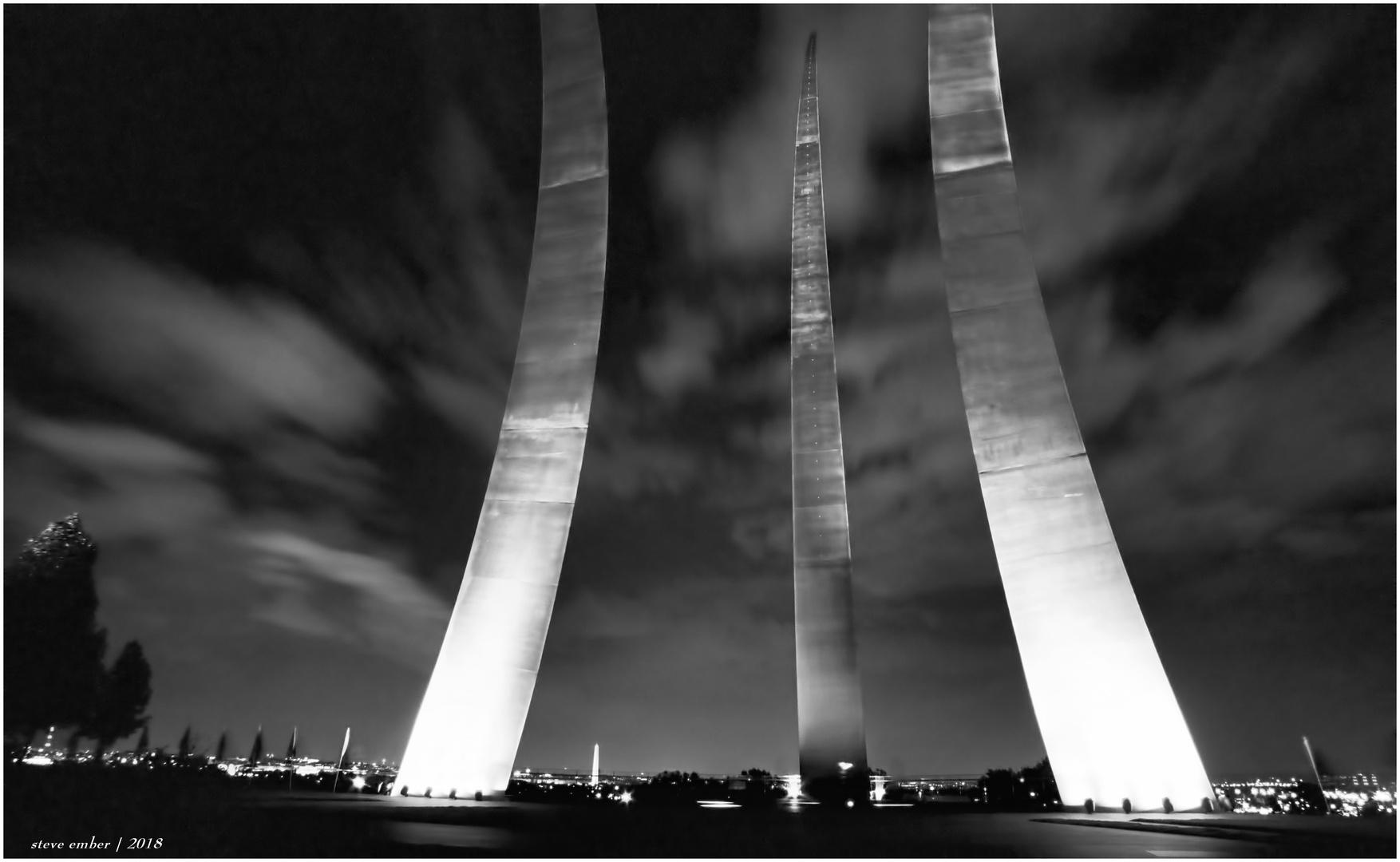 U.S. Air Force Memorial by Night