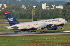 US Airways Boeing 767-201(ER) N249AU 02 Touchdown Rwy 34