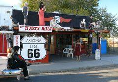 """USA 2011 - """"Route 66"""" - Straßenmotiv in Seligman"""