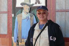 """USA 2013 - Rundreise """"Grand Circle""""  (13) - Monument Valley - Wolfgang mit John Wayne"""