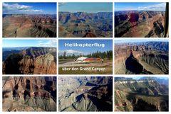 "USA 2013 - Rundreise ""Grand Circle"" (19) - Grand Canyon / Helikopter Flug - Ausgetauschte Collage"
