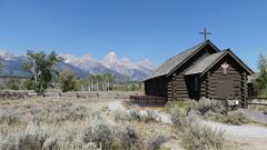 USA-Reise 2018  -  Kapelle auf dem Weg vom Yellowstone NP nach Salt Lake City