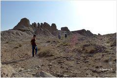 Usbekistan - Ajaz Kale - Aufgang - Festungsmauern