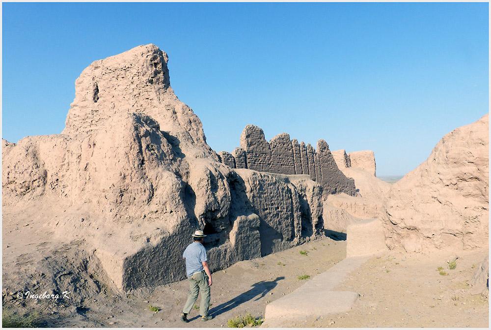 Usbekistan - Ajaz Kale - zwischen den Festungsmauern