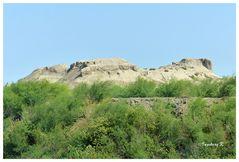 Usbekistan - Toprak Kala - Blick auf die Stadt auf dem Hügel