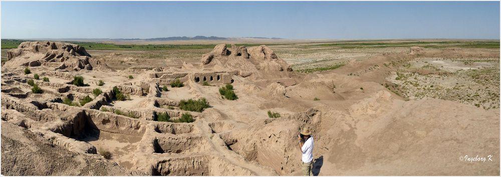 Usbekistan - Toprak Kala - Stadtansicht