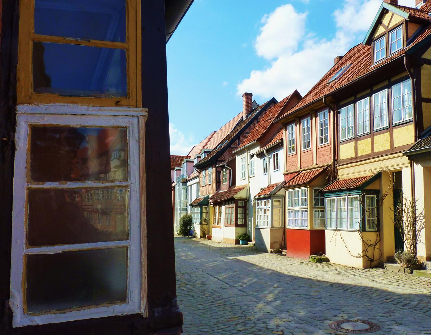 """""""Utlucht"""" in der Altstadt von Lüneburg"""
