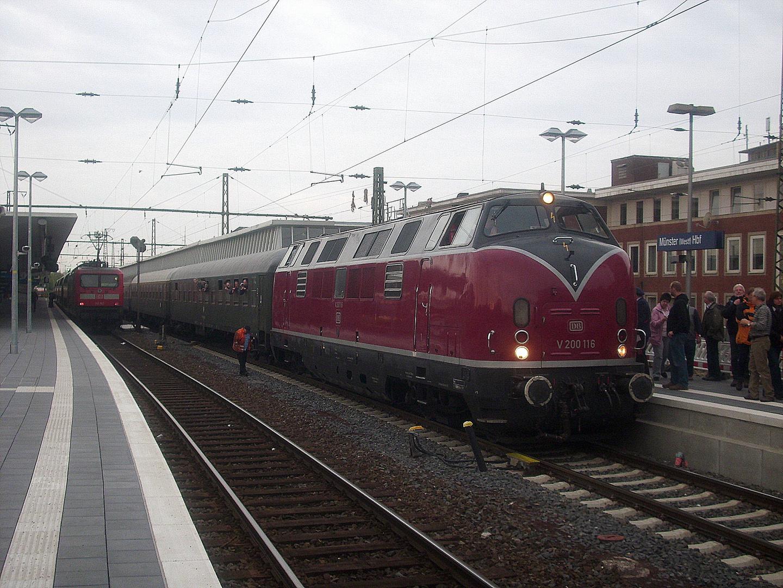 V200 116 in Münster Hbf