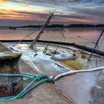 Vagel Grip,gesunken im Rostocker Stadthafen