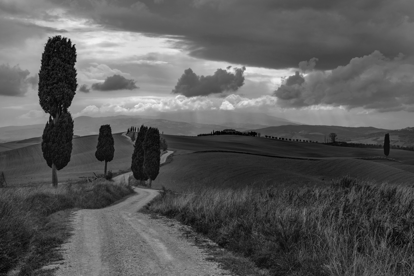 *Val d'Orcia @ die Illusion immer guten Wetters...*