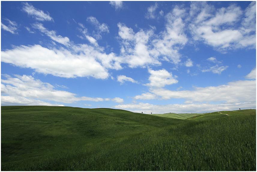 Val d'Orcia - pure Landschaft 2