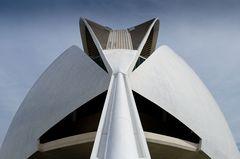 Valencia: Rückseite des Palau de les Arts Reina Sofia