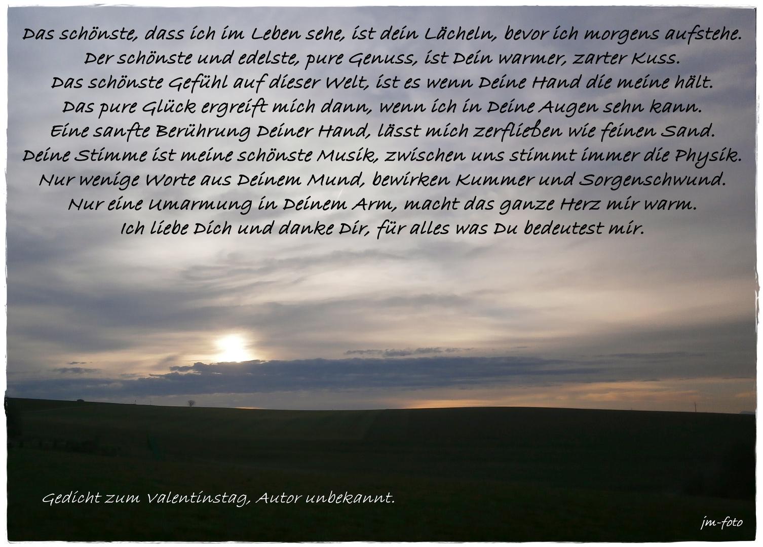 Valentinstags Gedicht Foto Bild Emotionen Liebe Spruch