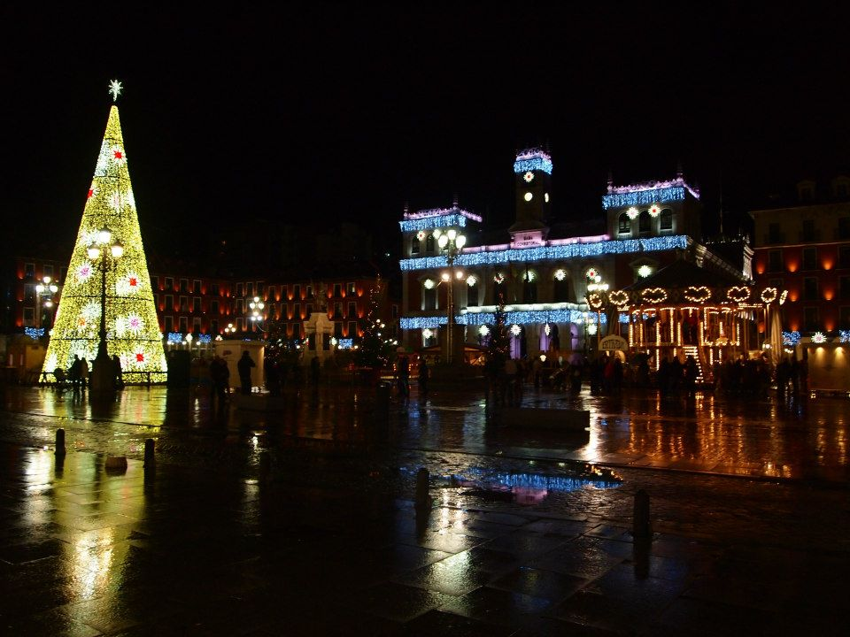 Valladolid city centre at christmas