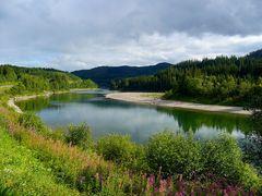 Valle fluviale nel Nordland