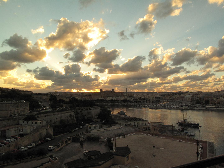 Valletta Wolkenhimmel