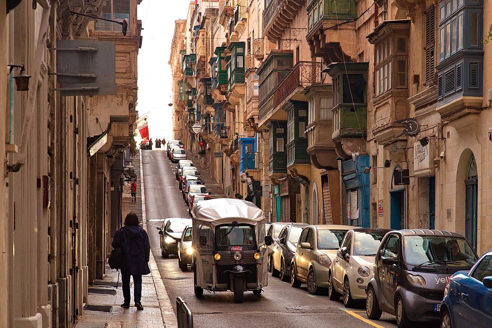Vallettas enge aber einladende Gassen