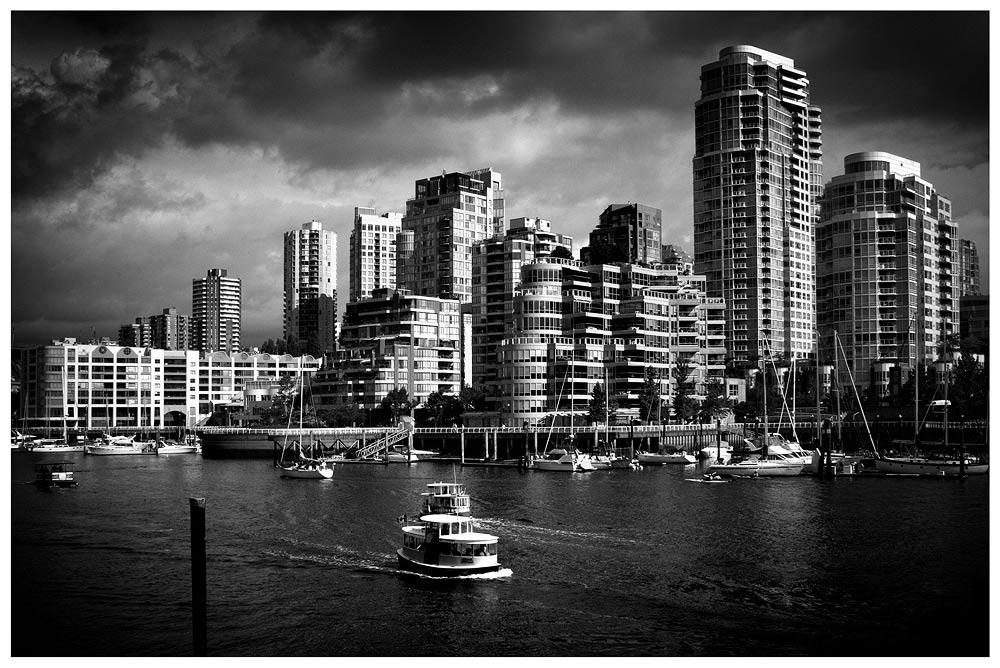 Vancouver in black white