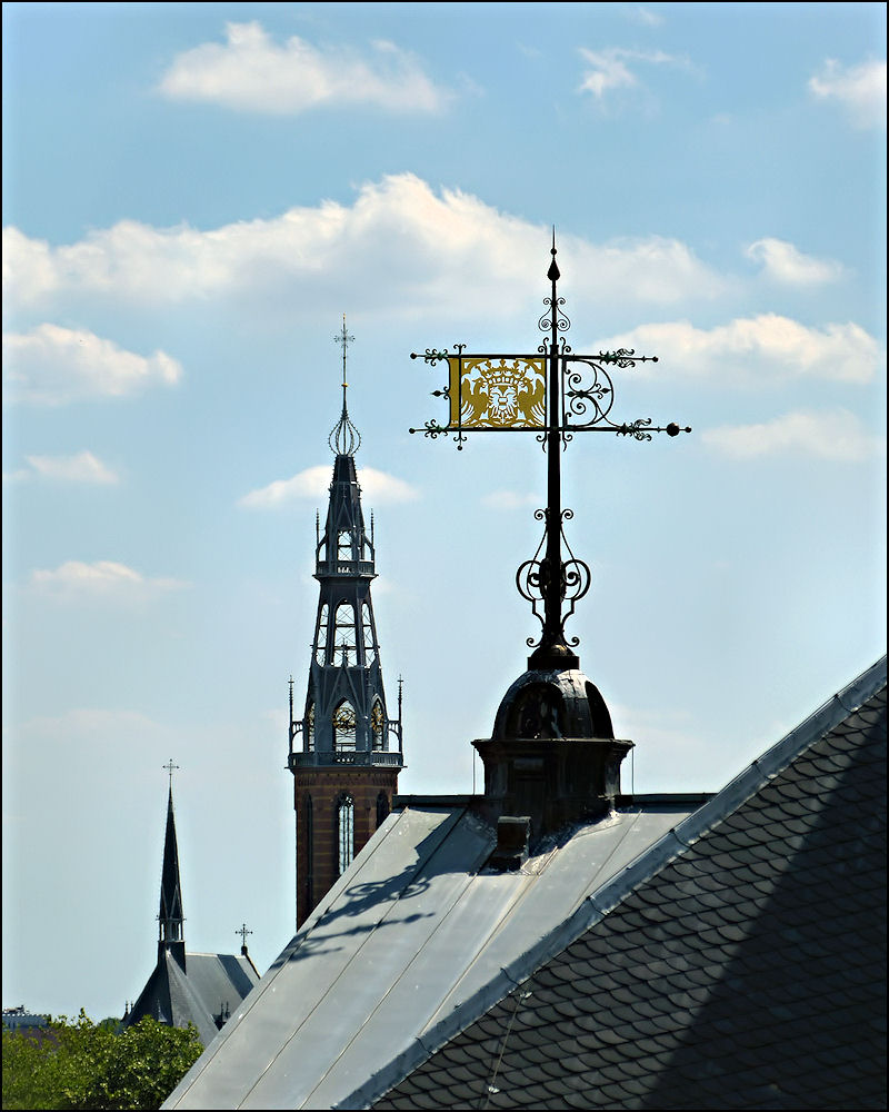 Vane on the roof of the town hall