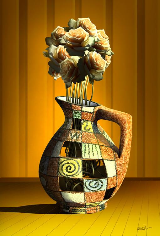 Vaso de Rosas.