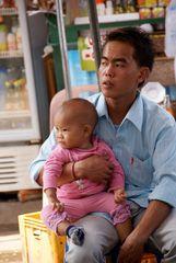 vater & tochter, laos 2010