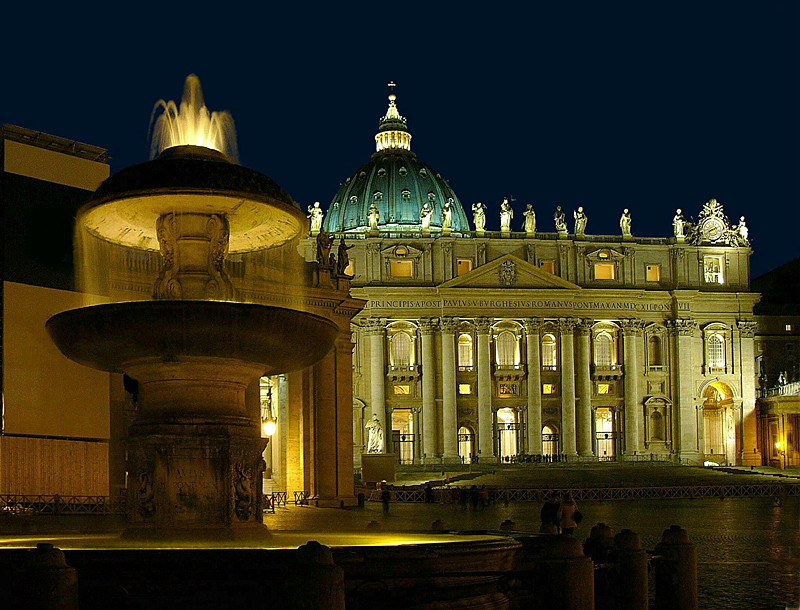 vaticano notturno