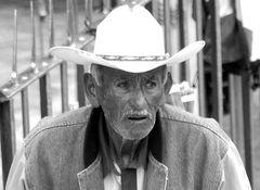vecchiaia di un cowboy messicano