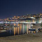 Veduta di Mergellina di notte